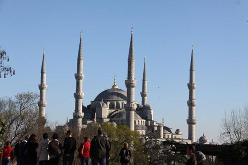 thánh đường hồi giáo sultan ahmet tại istanbul