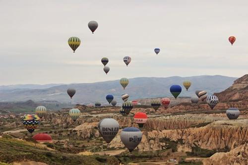 khinh khí cầu ở cappadocia