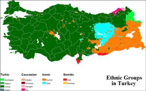 cơ cấu dân số thổ nhĩ kỳ theo sắc tộc