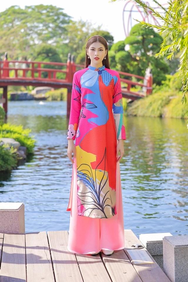Á hậu Phương Anh, Ngọc Thảo gợi ý diện áo dài Tết nhiều màu - Ảnh 6.