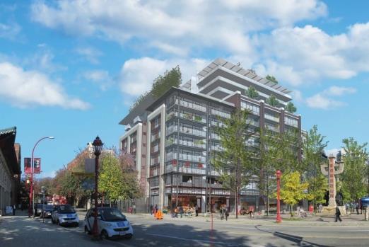 圖:Beedie集團提出在卑詩省溫哥華唐人街奇化街105號地段的新發展計劃。(溫哥華市府)