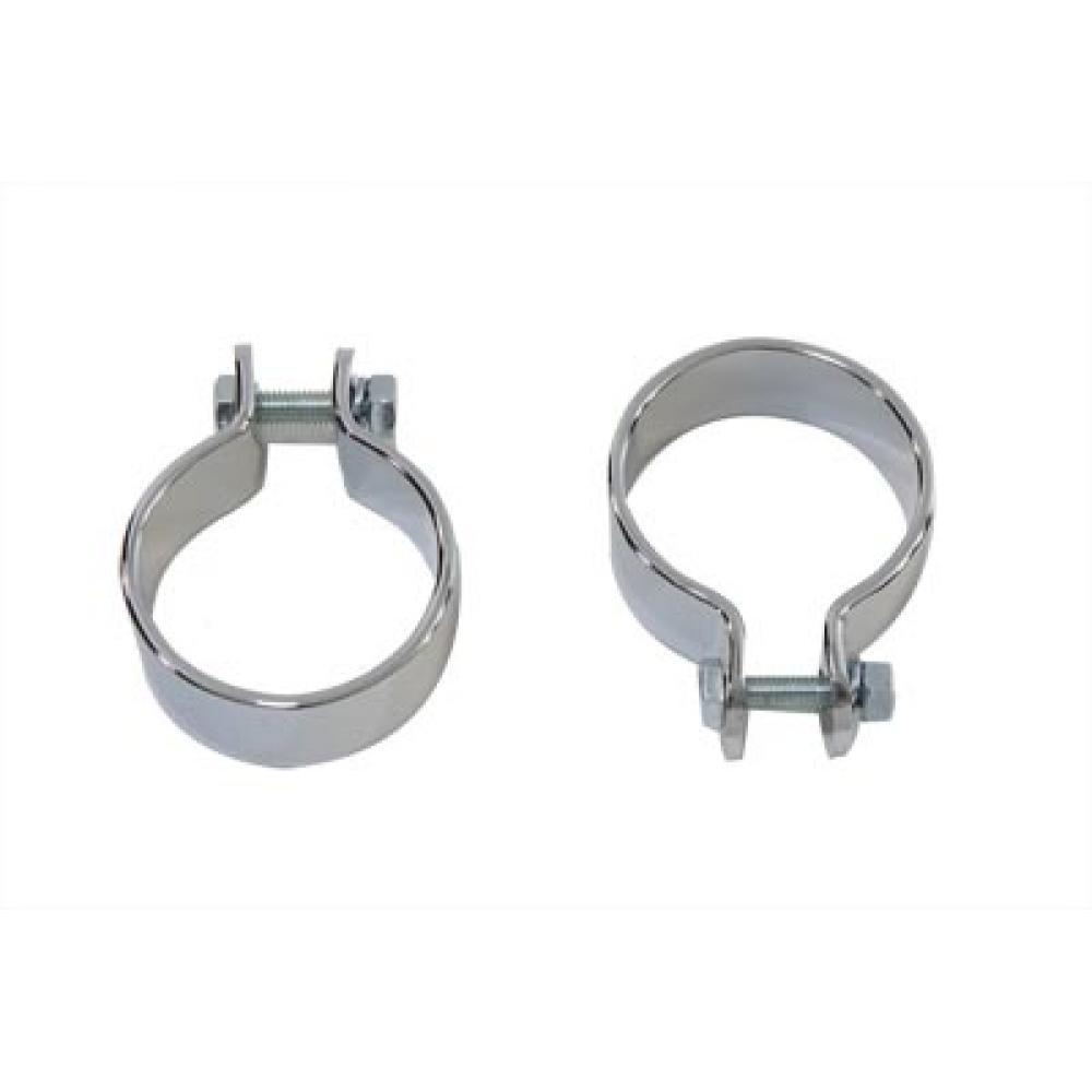 chrome 1 3 4 pipe clamp set 31 2132 vital v twin cycles