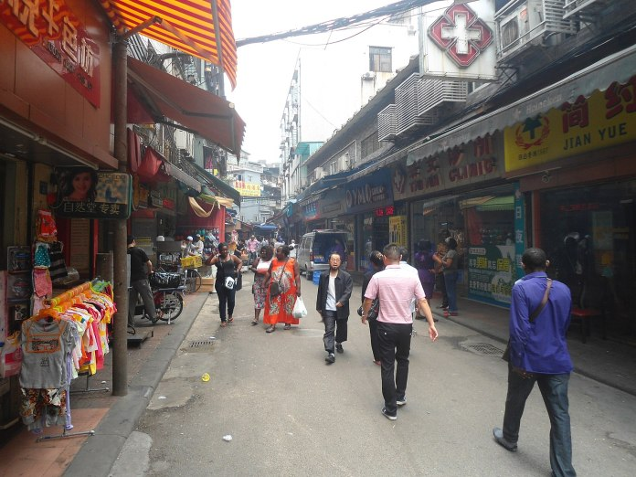 Africans in the Chinese city of Guangzhou