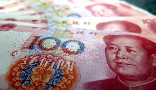 RMB or yuan Chinese bank note.