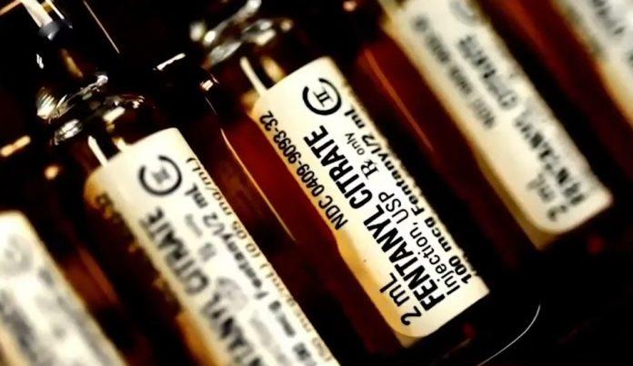 Ampules containing 100mcg of fentanyl