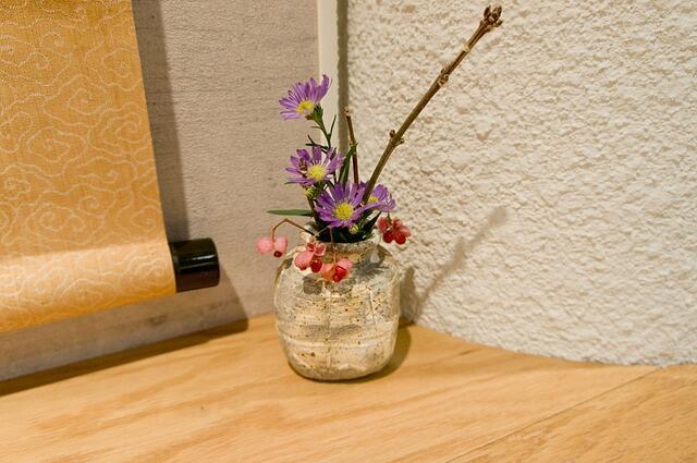 Hanging Scroll Flower Arrangement