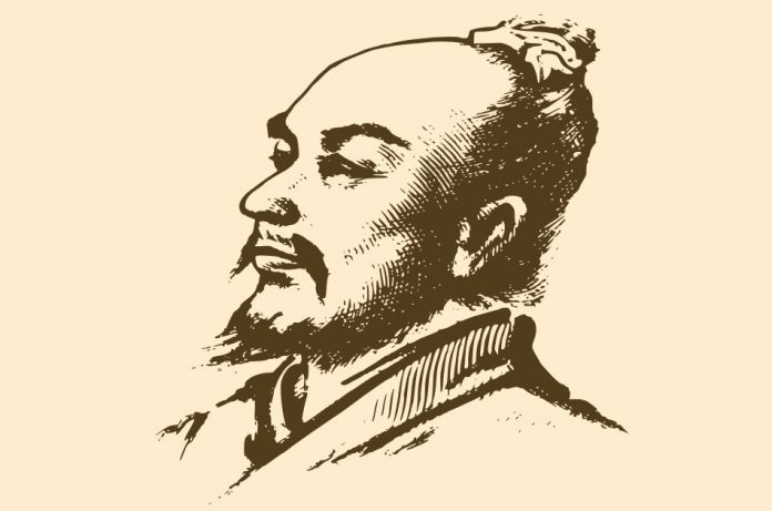 A drawing of Zhang Heng, the Chinese astronomer, mathematician, seismologist, hydraulic engineer, inventor, geographer, cartographer, ethnographer, artist, poet, philosopher, politician, and literary scholar who lived during the Han Dynasty.