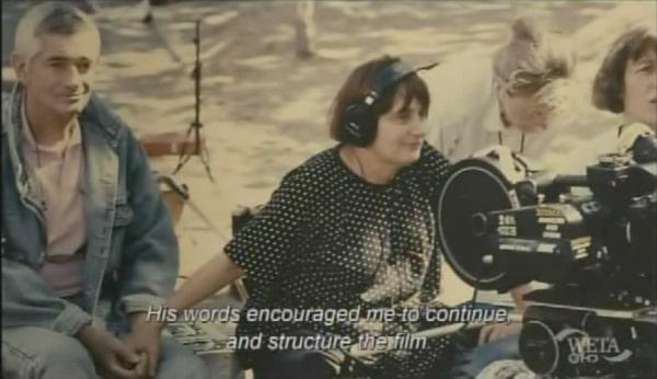 agnes varda and her husband on production of jacqout de nantes