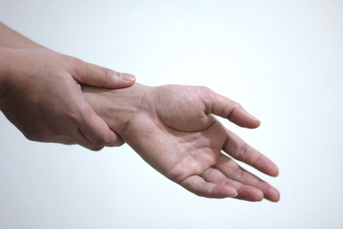 the neighing acupuncture point is located on the wrist, just below the hand.