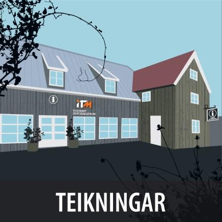 Teikning fyrir ITM - Icelandic Travel Market