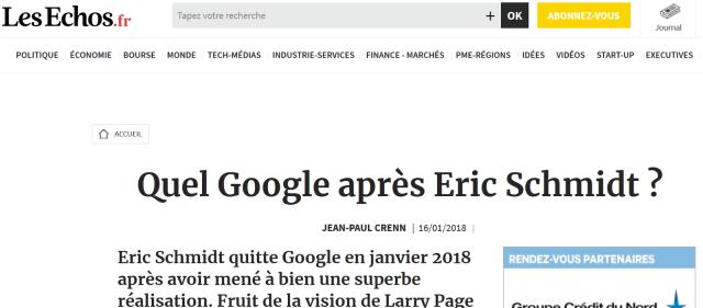 google vuca jean paul crenn les echos 16 janvier 2018