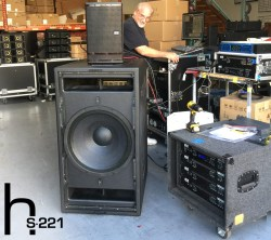 Mike Adams test prototype of the hs-221 the latest addition to our ACM Subwoofer Family
