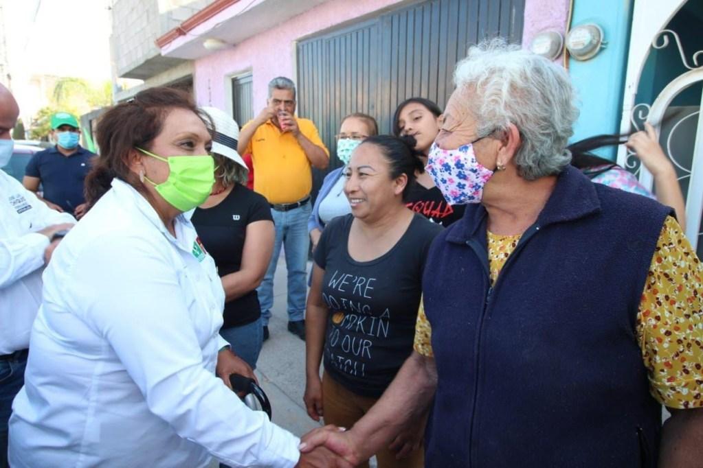 """• La candidata de """"Juntos Haremos Historia"""" a la alcaldía de Soledad anunció la continuidad del proceso de modernización de alumbrado público y de la recolección de basura."""
