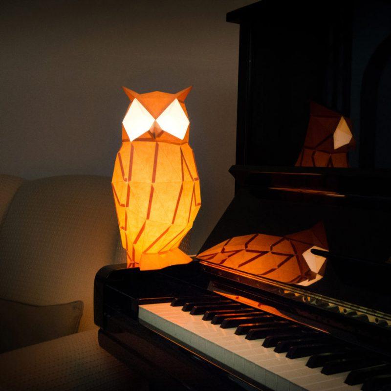 Elegant Papercraft Animal Lamps
