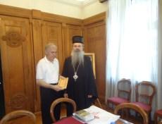 Љубомир Милутиновић и Владика Теодосије