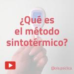 ¿qué es el método sintotérmico?