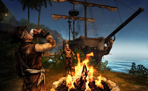 Risen 2 Dark Waters pirates drinking