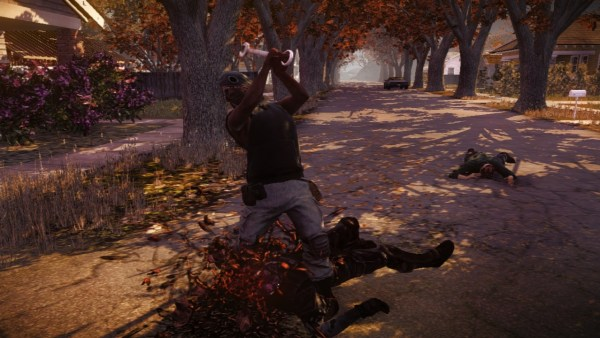 State of Decay bash that zombies head in