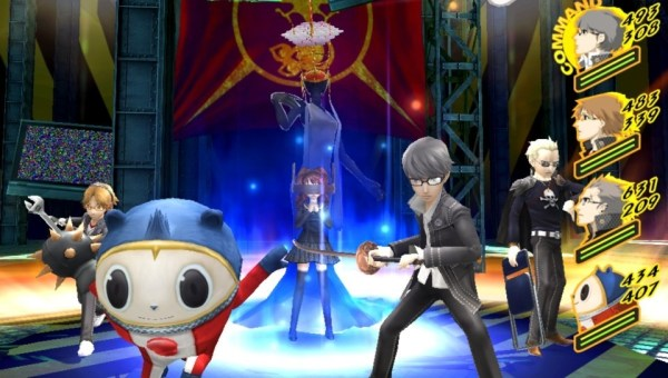 Persona 4 Golden- battle in progress