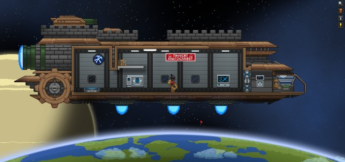 Starbound personal spaceship