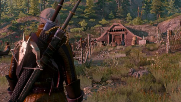 A dwelling from the Skellige Isles in The Witcher 3 Wild Hunt