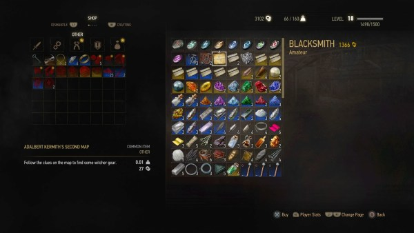 Map to Feline armor set in The Witcher 3 Wild Hunt