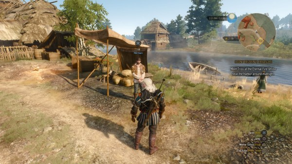 The Witcher 3 DLC Merchant in White Orchard
