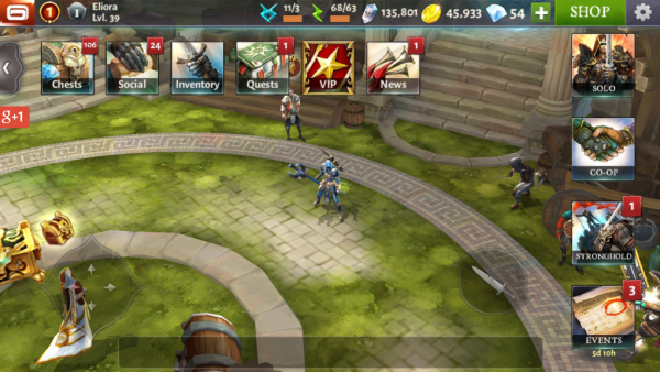 Dungeon Hunter 4 free to play android game in action