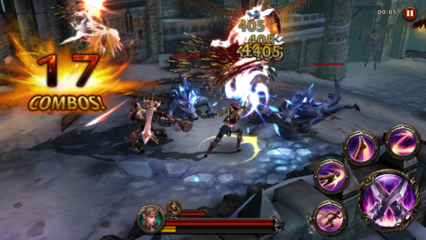 Eternity Warriors 4 free to play android game in action