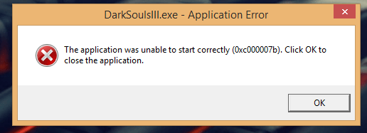 Unable to Start Error 0xc000007b