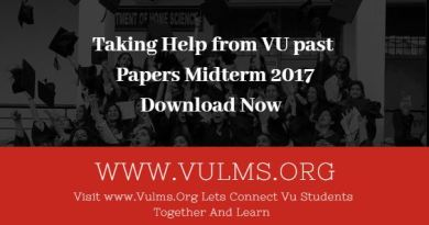 VU past papers midterm 2017