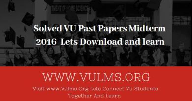 VU past papers midterm 2016