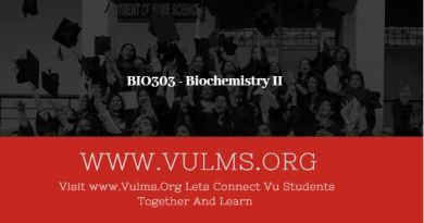 BIO303 - Biochemistry II