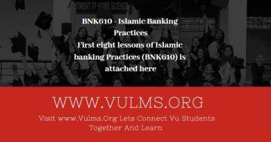 BNK610 - Islamic Banking Practices