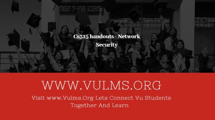 Cs315 handouts - Network Security
