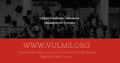 CS403 Handouts - Database Management Systems