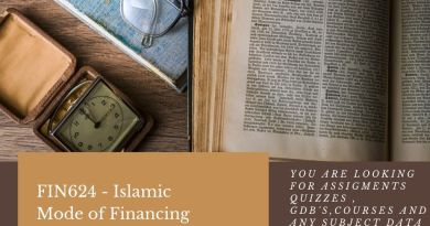 FIN624 - Islamic Mode of Financing