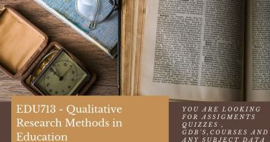 EDU713 - Qualitative Research Methods in Education