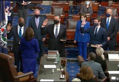 Democrats Sworn In As New Senators, Take Control Of House, Senate and Presidency