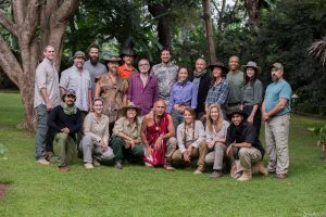 MYgrations.TANZANIA, AFRICA - The Human Herd. Left to right, top row: Jesse Holder, Rob DuBois, Andrew Barrett, Jason Drevenak, Dan Baird, David Gracer, Duke Edwards, Robin Arzon, Jens Rasmussen, Manu Toigo, Reggie Showers, Christanne Middleton and Keith England..Left to right, Bottom Row: Reza Allah-Bakhshi, Amy Rodrigues, Jessie Krebs, Tom Pohaku Stone, Sarah Peters, Mimi Schector and Joshua Reese..(Photo Credit: National Geographic Channels/ Ian & Natasha Dray)