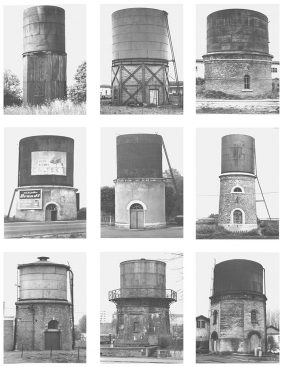 (Bernd and Hilla Becher's Water Towers: (Bahnhof) - Photography series)