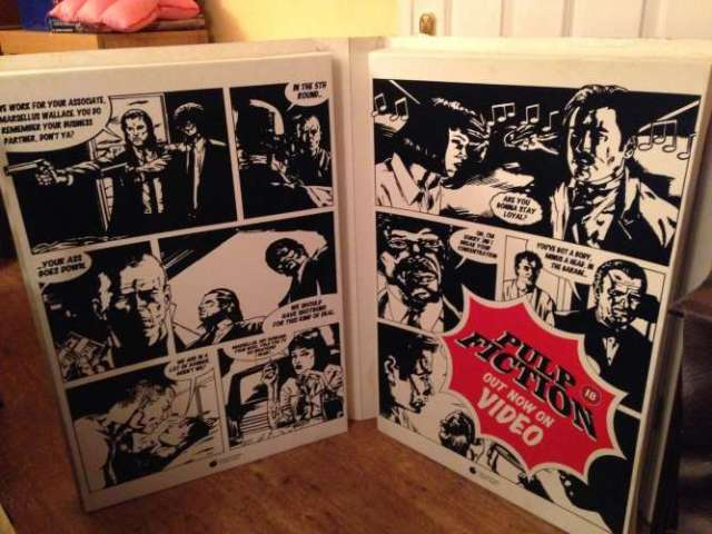 Pulp Fiction Movie Display - Inside Comic Strip