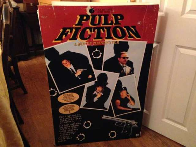 Pulp Fiction Movie Display - Back