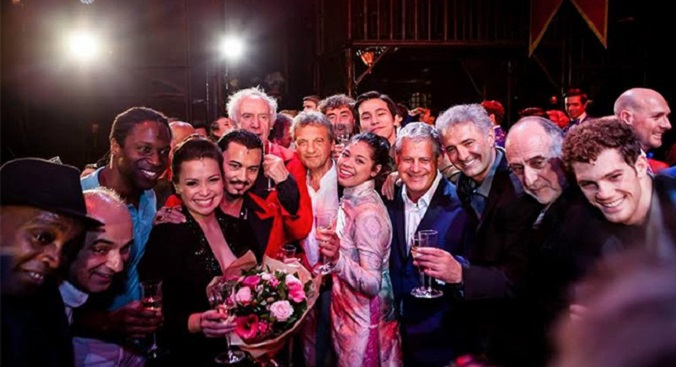 Authors Claude-Michel Schonberg and Alain Boublil, Producer Cameron Mackintosh and stars past and present mark the 25th anniversary of Miss Saigon