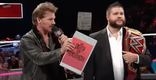 """WWE having Jericho humiliated two weeks in a row?..  """"You just made the list!"""""""