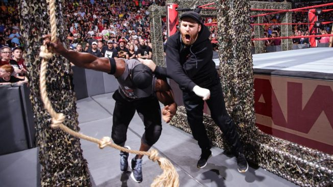 Sami Zayn attacks Bobby Lashley