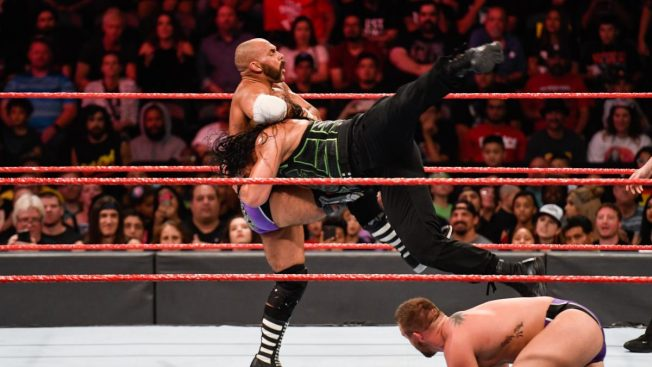 Roman Reigns spears Scott Dawson