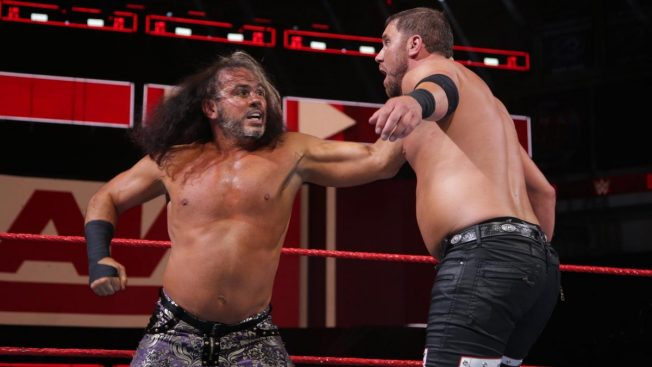 Matt Hardy and Curtis Axel trade blows
