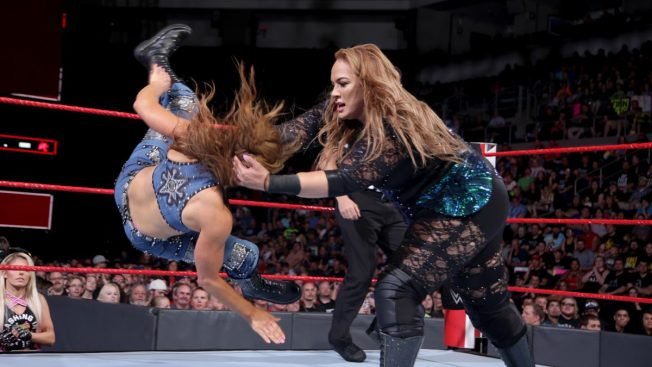 Nia Jax throws Mickie James