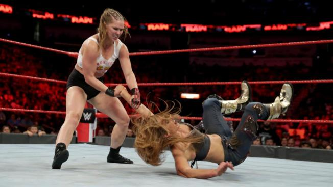Ronda Rousey throws Mickie James
